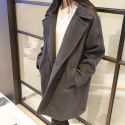 에이비로드(ABROAD) Premium Over Coat (dark gray)