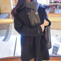 에이비로드() Premium Over Coat (black)