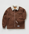 크리틱(CRITIC) COTTON TWILL BOA JACKET (BROWN)_CMOSIJK01ME2