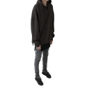페이드6(FADE6) OVERFIT TERRY HOODIE BLACKISH BROWN
