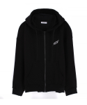 캄퍼씨(COMPATHY) [UNISEX]THUNDER HOOD ZIP UP_BK