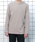 Unbalance Layered T-Shirt (Beige)
