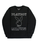 아임낫어휴먼비잉(I AM NOT A HUMAN BEING) PLAY BOY x I am Not a Human Being Basic Logo Crewneck - Black