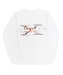 아임낫어휴먼비잉(I AM NOT A HUMAN BEING) PLAY BOY Covers Logo Crewneck - White