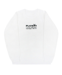 아임낫어휴먼비잉(I AM NOT A HUMAN BEING) PLAY BOY x I am Not a Human Being Mix Logo Crewneck - White