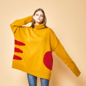 제너럴코튼(GENERAL COTTON) [wool Knit] NOON mustard pola