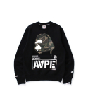 베이프() AAPE BY A BATHING APE  AAPE CREW NECK SWEATSHIRT