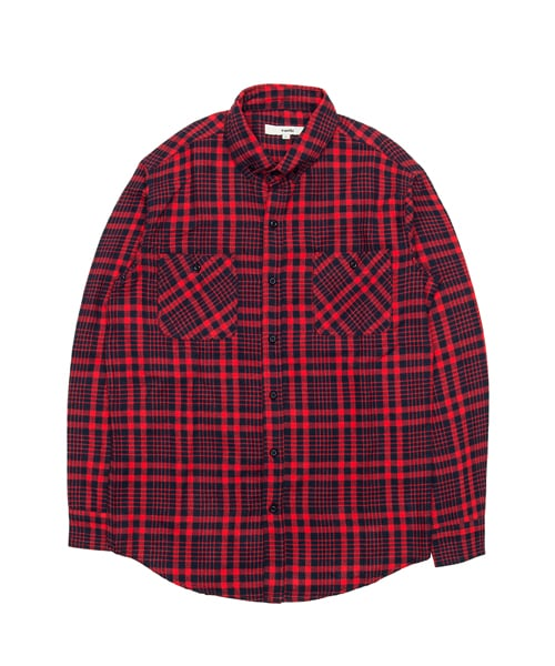 바스틱_[기모] Vastic Check Shirts_Red