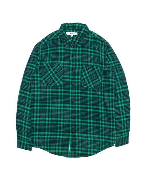 바스틱_[기모] Vastic Check Shirts_Green