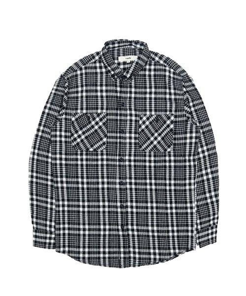 바스틱_[기모] Vastic Check Shirts_Black