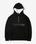 레이어 유니온(LAYER UNION) SNAP ZIP YC HOODIE BLACK
