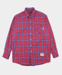 UNISEX Warm Check Shirt-Pink