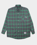 UNISEX Warm Check Shirt-Green