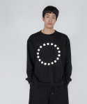 로우 투 로우(RAW TO RAW) 3D symbol long sleeve(black&white)