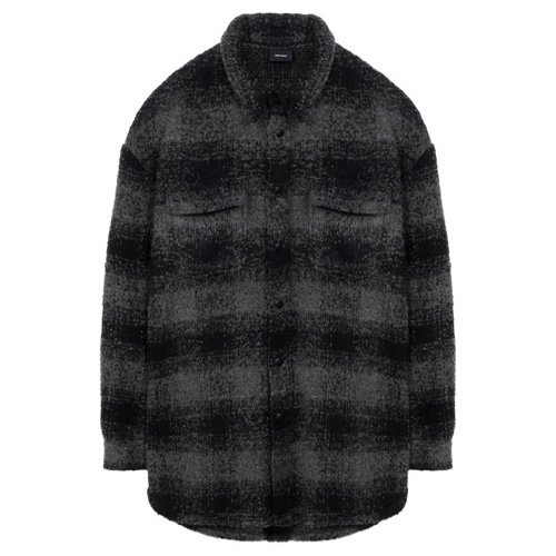 데어로에_flannel jacket black