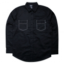비블랙(BEBLACK) STITCH POCKET SHIRT BLACK