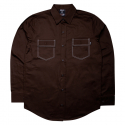 비블랙(BEBLACK) STITCH POCKET SHIRT BROWN