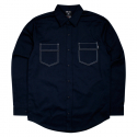 비블랙(BEBLACK) STITCH POCKET SHIRT NAVY