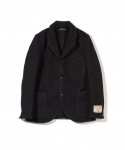 BROWNS BEACH / LAPEL JACKET / SOLID BLACK