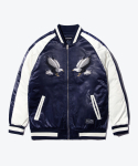 SHUTTER EAGLE NEEDLEPOINT SOUVENIR JACKET (NAVY)