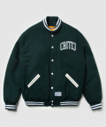 크리틱(CRITIC) ARCH LOGO WOOL JACKET (GREEN)_CMOSISJ01MG1