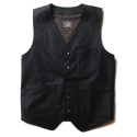 루이드(LUIDE) Wool Vest -Black-