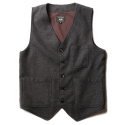 루이드(LUIDE) Wool Vest -Grained Brown-