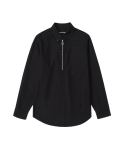 Front collar zipper open shirt