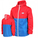 Pier Windbreaker Jacket - Red/Blue
