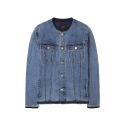 에센시(ESSENSI) [ESSENSI] CUTTED DENIM JACKET (ES1GFUJ240D)