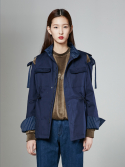 [NAVY] 16FW BEAUTY RIBBON UTILITY JACKET_NAVY