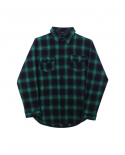 [GHOSTCELL] FLANNEL SHIRT (GREEN)