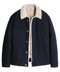 모디파이드() M#1072 new sherpa trucker jacket (navy)