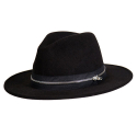 CIVIL REGIME ZIP FEDORA (BLACK)