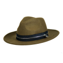 CIVIL REGIME ZIP FEDORA (DARK OLIVE)