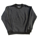 CIVIL REGIME .CIVIL REGIME EMBROIDERED CREWNECK (BLACK)