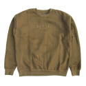 시빌 레짐(CIVIL REGIME) CIVIL REGIME CIVIL REGIME EMBROIDERED CREWNECK (DARK OLIVE)