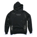 CIVIL REGIME CIVIL BLEACH FT PULLOVER HOODIE (BLACK)