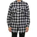 시빌 레짐(CIVIL REGIME) CIVIL REGIME REGIME FLANNEL BUTTON UP (BLUE)