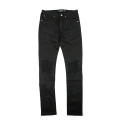CIVIL REGIME ZEPPELIN DENIM THRASH MOTO JEANS (BLACK)