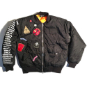 CIVIL REGIME REBEL TOUR MA-1 BOMBER JACKET (BLACK)