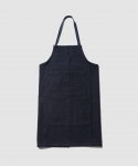 OLD JOE & CO. / HOME SEWING APRON / BLACK NAVY DIAMOND PATTERN