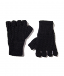 OLD JOE & CO. / RAMIE WOOL FINGERLESS KNIT GLOVES / BLACK