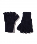 올드조(OLD JOE & CO) OLD JOE & CO. / RAMIE WOOL FINGERLESS KNIT GLOVES / NAVY