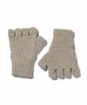 올드조(OLD JOE & CO) OLD JOE & CO. / RAMIE WOOL FINGERLESS KNIT GLOVES / MIX WHITE