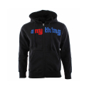 유에스에이 머친다이징(U.S.A MERCHANDISING) U.S.A MERCHANDISING ANYTHING BRUISER ZIP UP HOOD (BLACK)