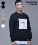 퍼블릭아이콘(PUBLIC ICON) [오버핏] Box Logo Sweatshirt