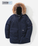 [COVERNAVY]17A/W GOOSE DOWN N3B PARKA MID-LONG NAVY