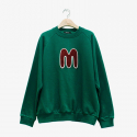 덴스(THENCE) M WAPPEN SWEATSHIRT(GREEN)