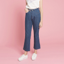 덴스(THENCE) PINK STITCH DENIM PANTS